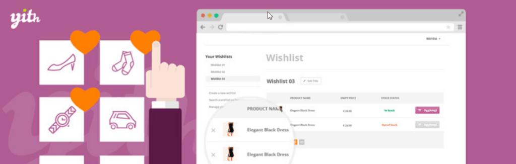 YITH WooCommerce Wishlist - one of the best woocommerce plugins